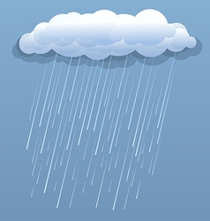 Rain dark clouds blue vector