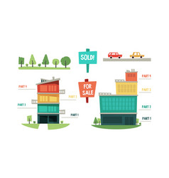 real estate infographic elements purchase and vector image