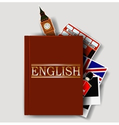 Red english dictionary vector