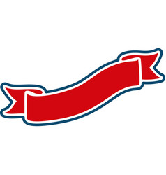 red heraldic ribbon vector image