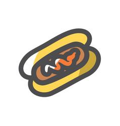 sausage in dough icon cartoon vector image