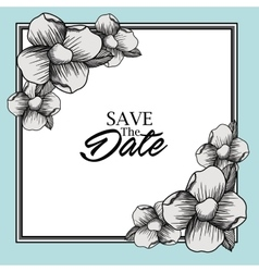 save the date card design vector image