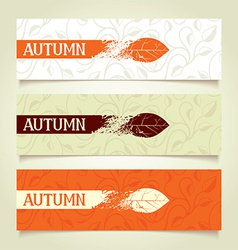 Set autumn banners vector