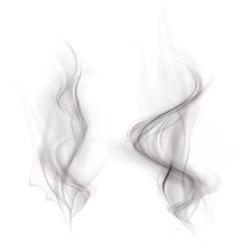 set black smoke isolated on a white background vector image