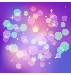 Shining magical dark violet bokeh background vector