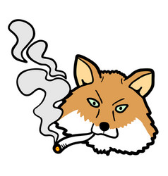 smoke fox vector image