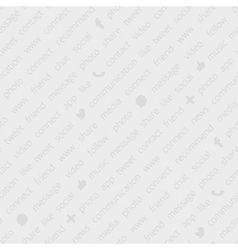 social network seamless pattern vector image