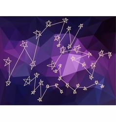 Stars constellations in Universe vector image