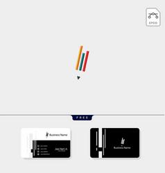 study pen creative logo template vector image
