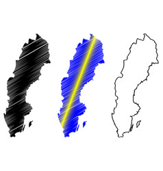 Sweden map vector