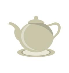 Tea pot drink design vector