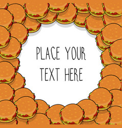 template with many hamburgers vector image