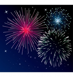 Three types of fireworks vector