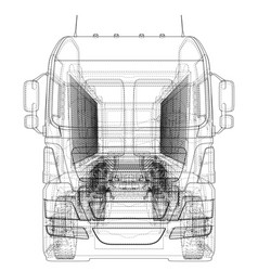 tipper lorry on transparent background logistics vector image