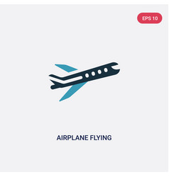 two color airplane flying icon from transport vector image