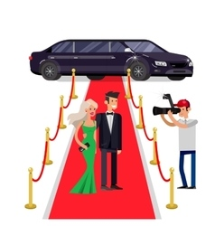 Two rich and beautiful celebrities vector