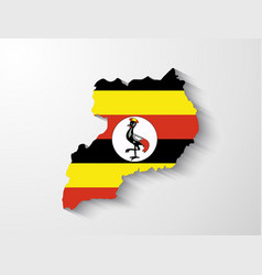 Uganda map with shadow effect vector