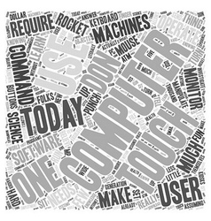 Using Computers Word Cloud Concept vector image