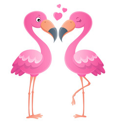 valentine flamingos topic image 1 vector image