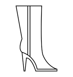 Women winter boots icon outline style vector