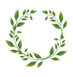 Wreath of leaves icon vector