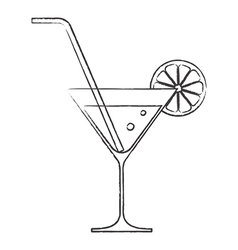 Cocktail glass vector image vector image
