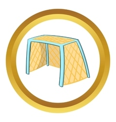 Hockey gates icon cartoon style vector image