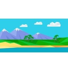 Natural landscape in flat vector