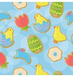 Seamless Easter cookie background vector image vector image