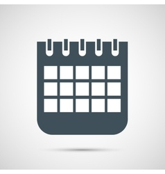 calendar isolated on white background vector image