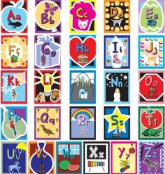 flash card alphabet vector image vector image