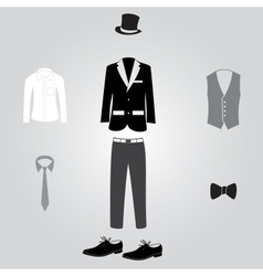 formal suits and clothing eps10 vector image