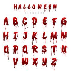 halloween bloody alphabet i vector image vector image