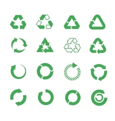 Recycle raw materials icons set vector image
