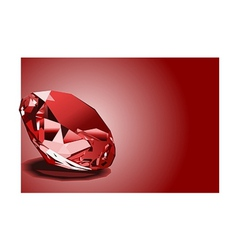 red ruby vector image vector image