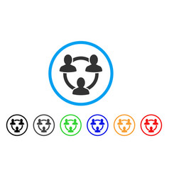 trust circle rounded icon vector image