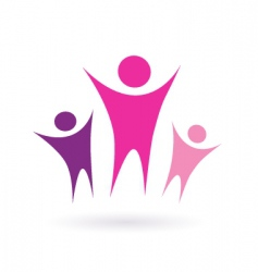 women group community icon vector image vector image