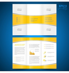 brochure perspective yellow curve bend line white vector image vector image