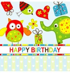 Children Birthday Card vector image vector image