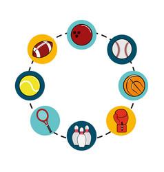 color diferents sport games icon vector image