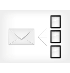 mail concept tablet pc vector image vector image