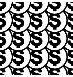 Money icon seamless pattern vector image vector image
