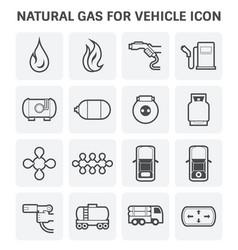 natural gas icon vector image