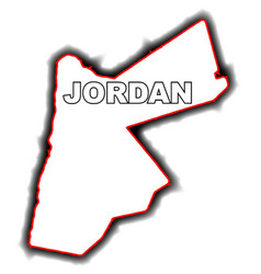 outline map of jordan vector image