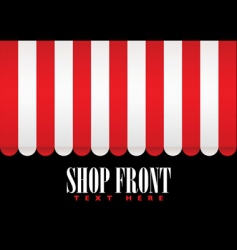 shop front awning vector image vector image