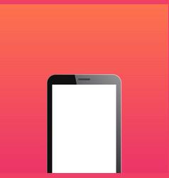 smartphone copyspace on orange background vector image