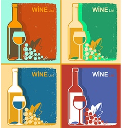 vintage wine cards backgrounds for text vector image vector image