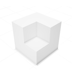 3d abstract background cube vector image vector image
