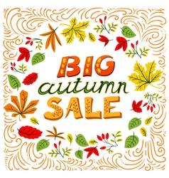Big autumn sale lettering vector image