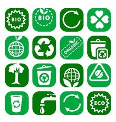 color environmental icon set vector image